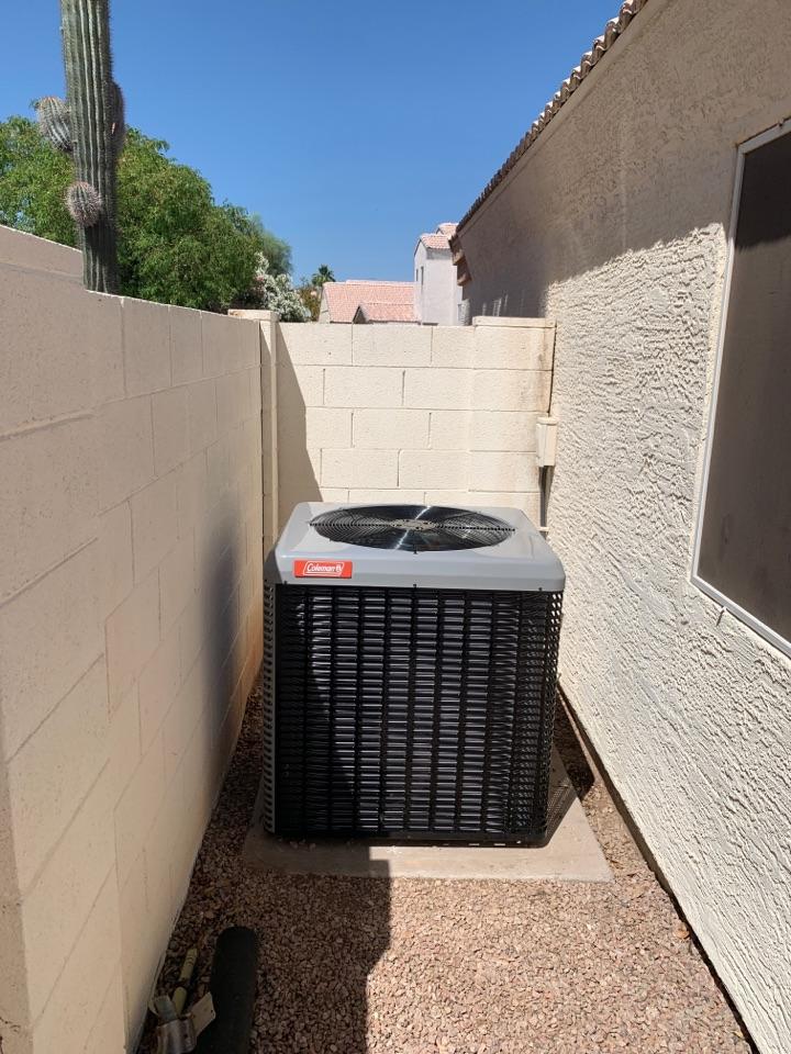 Chandler, AZ - Newly installed 16 seer Coleman split gas system installed in time for summer!!!