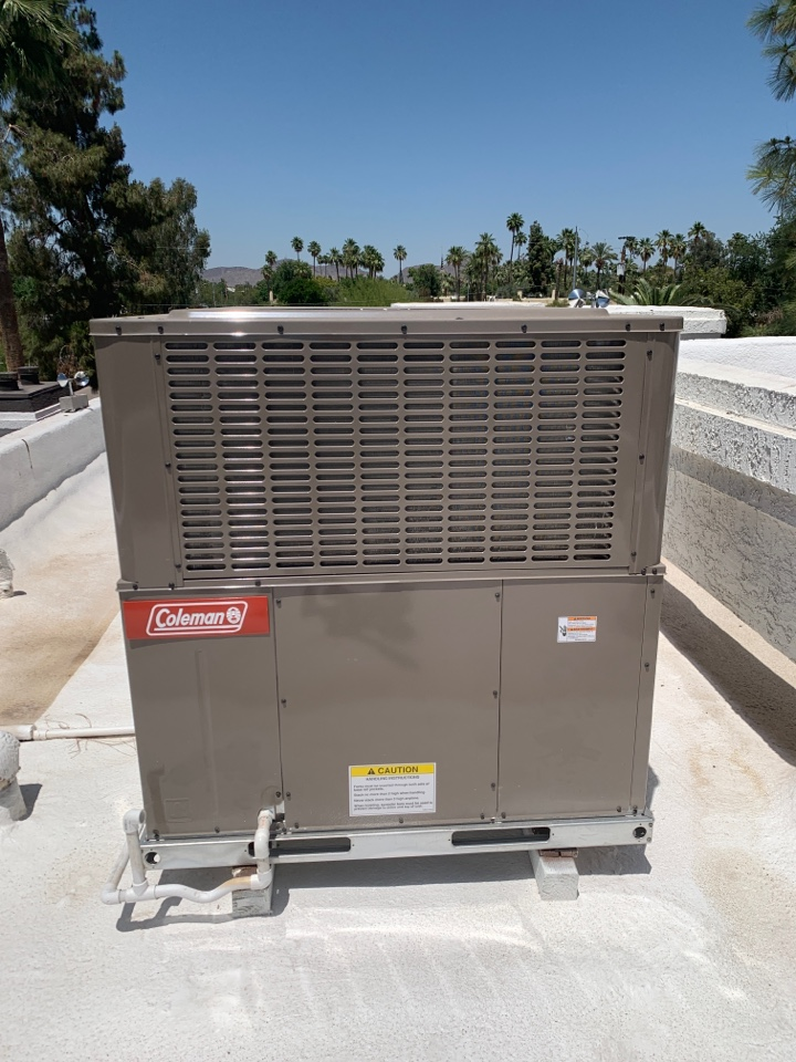 Phoenix, AZ - New Coleman heat pump installed just in time for summer!!!!