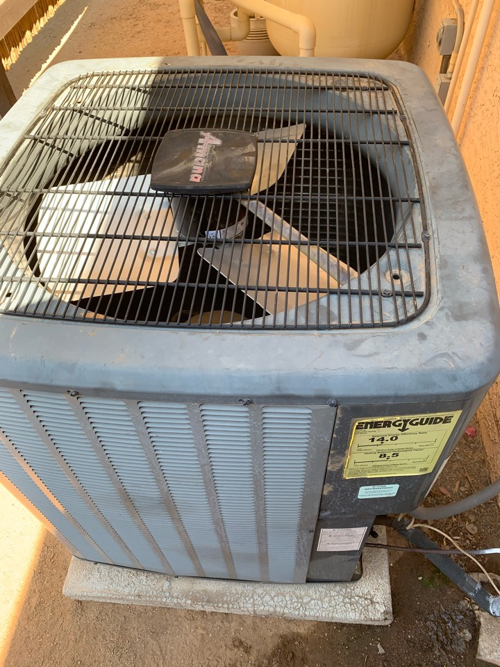 Scottsdale, AZ - Installed new condenser fan motor that was under warranty. Now air conditioner unit will perform like it should through the hot summer.