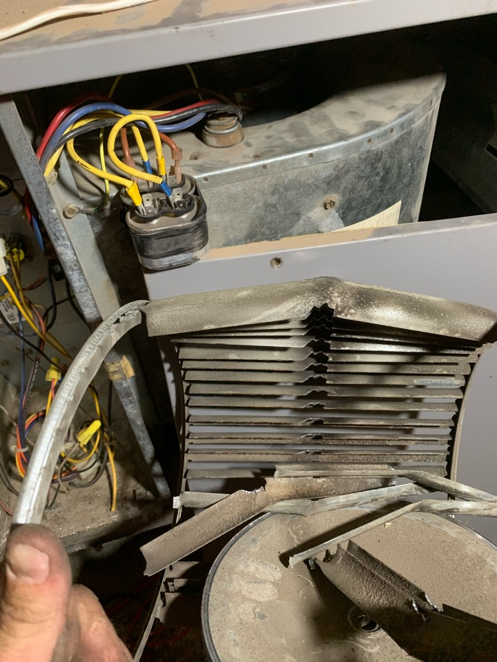 Phoenix, AZ - Installed new blower wheel in air handler on air conditioner due to the old wheel totally falling apart creating a loud noise and dust coming from vents.