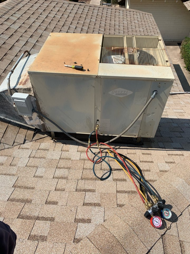 Phoenix, AZ - Inspected air conditioner finding it cooling as it should but struggling to keep up due to age and intense heat of summer.