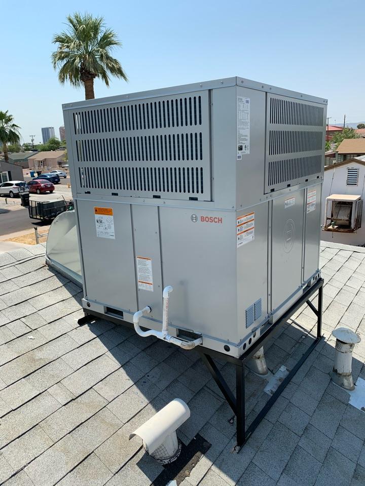 Phoenix, AZ - Installed new Bosch heat pump air conditioner.