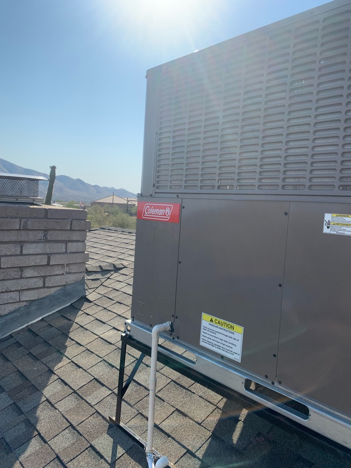 Phoenix, AZ - Got a no cool call from this customer of ours. Found the compressor not running from a faulty run capacitor. Replaced the run capacitor and now the Air conditioning unit is cooling as it should.