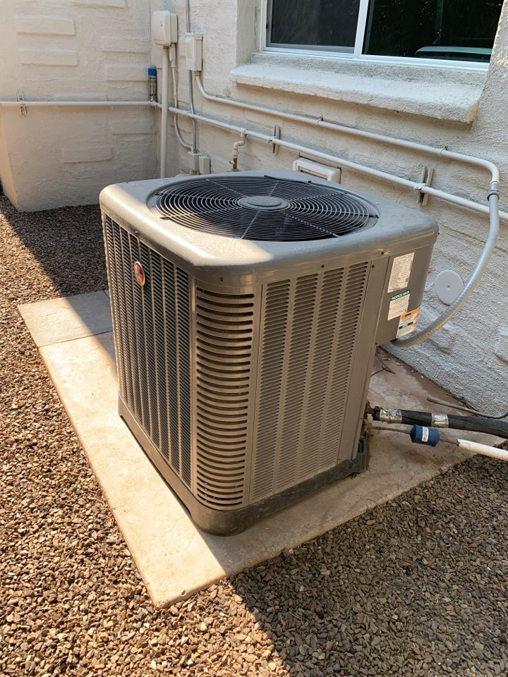 Phoenix, AZ - Getting air conditioning system back up and cooling during this early heat pump wave!!!