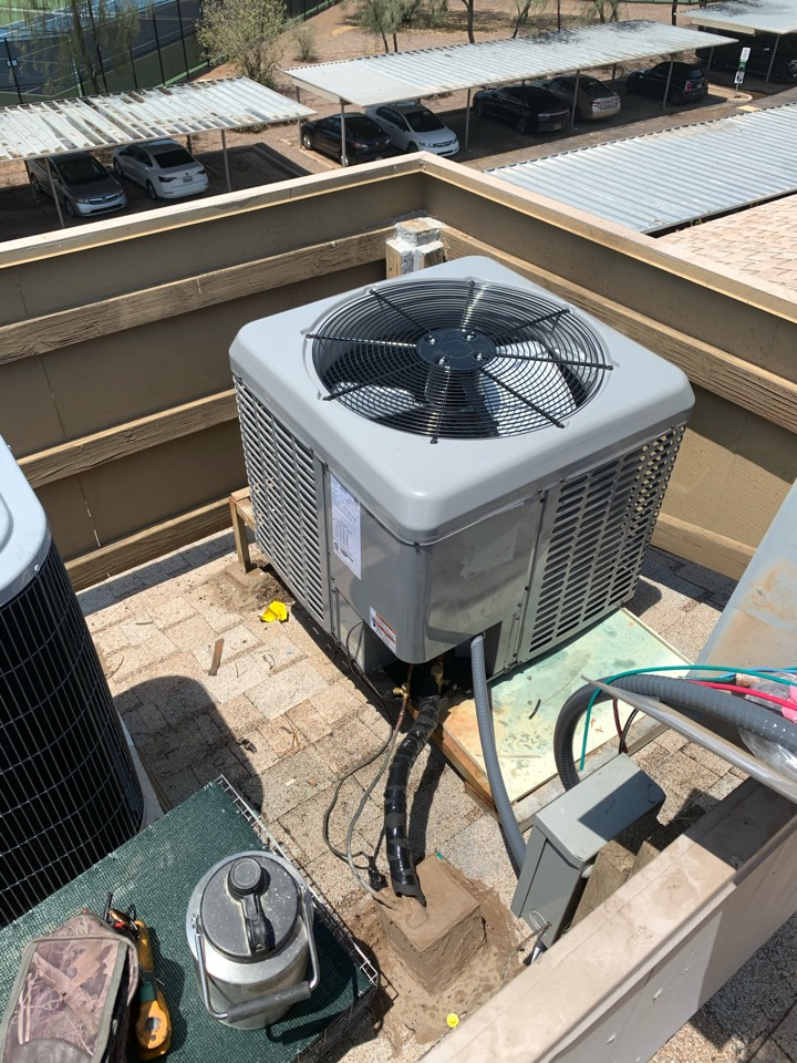 Scottsdale, AZ - Installed new 2 ton Coleman air conditioner with first company air handler.