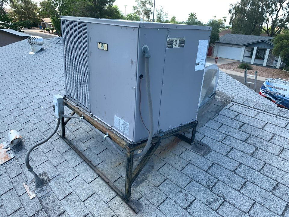 Phoenix, AZ - Found day and night air conditioner not operating due to low voltage fuse blown. Upon inspecting unit and finding no shorts it is apparent that the electrical storms happing in the valley caused a power surge taking out the fuse. Installing new fuse the unit is operating as designed.