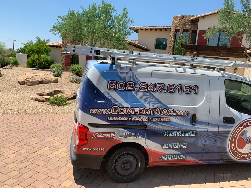 Paradise Valley, AZ - Installed new condenser fan motor into a Trane split air conditioner due to the ol motors bearings seized up. This causes the system not to coil.