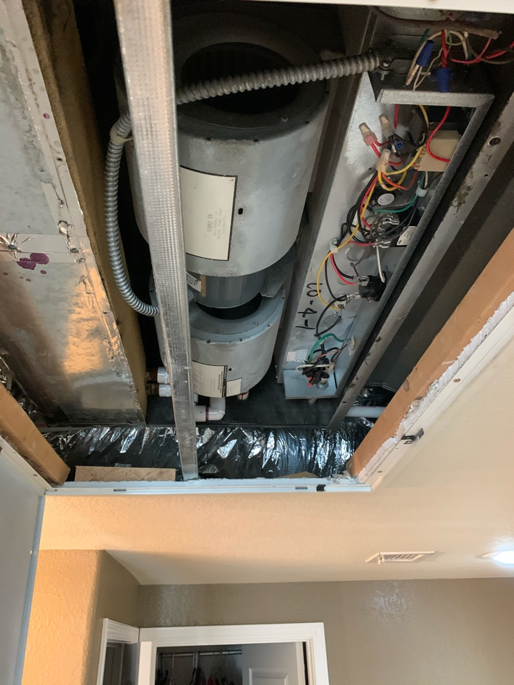 Scottsdale, AZ - Inspected 2 Trane split air conditioners with first co air handlers. Found one systems blower motors run cap starting to get weak this the motor was pulling high amps. Once new run capacitor was installed motor was running as designed.