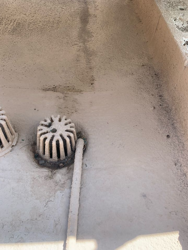 Phoenix, AZ - This drain for the AC was plugged up. Causing water leaking down into ductwork. Cleared out drain line, adjusted drain and ensured water flowed freely.