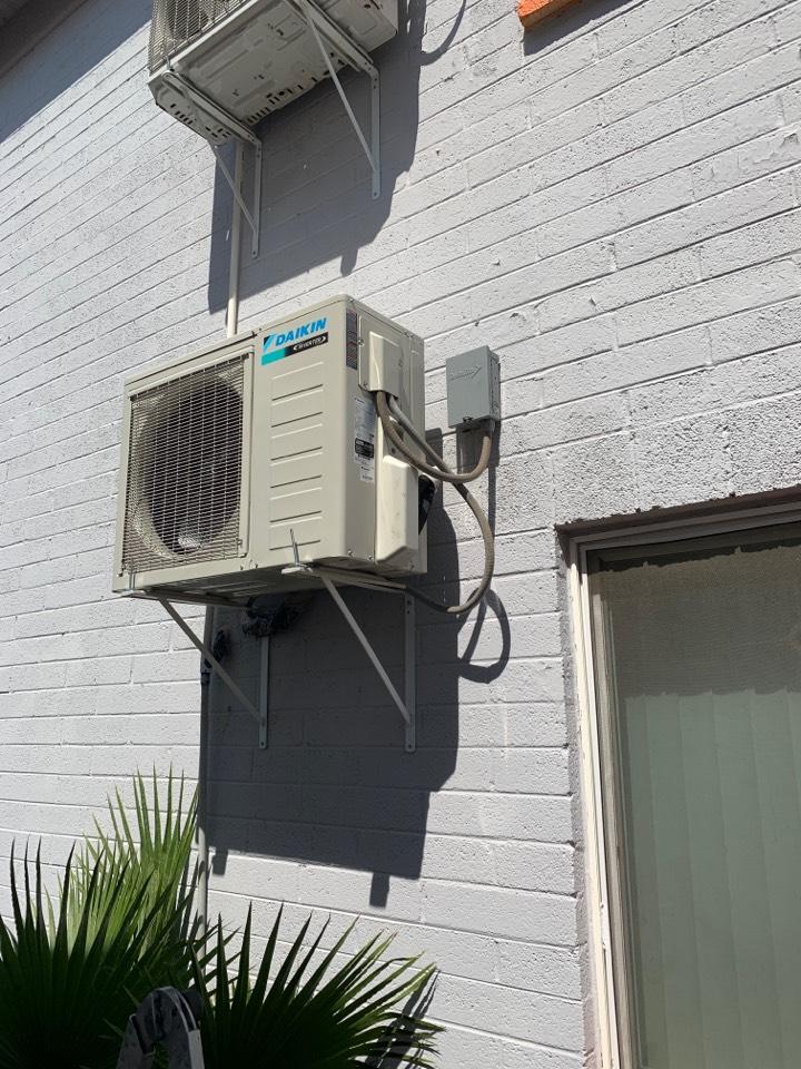 Phoenix, AZ - Installed new daiken 18k mini split due to the old garrison unit had a refrigerant leak that was unrepairable.