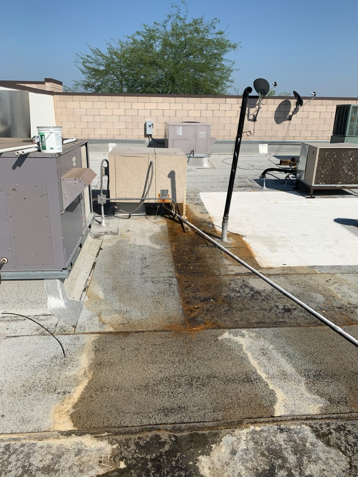 New River, AZ - Ran pvc pipe for evap cooler to get water off of roof.