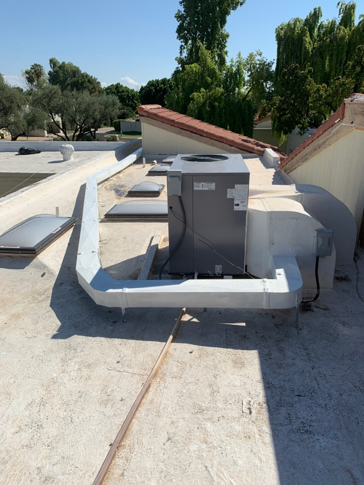Phoenix, AZ - Installed new insulated supply duct on roof to get more air to front room that is always hot. Mission success.