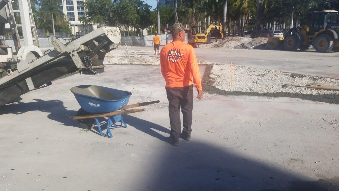Miami, FL - Curbing in Coconut Grove