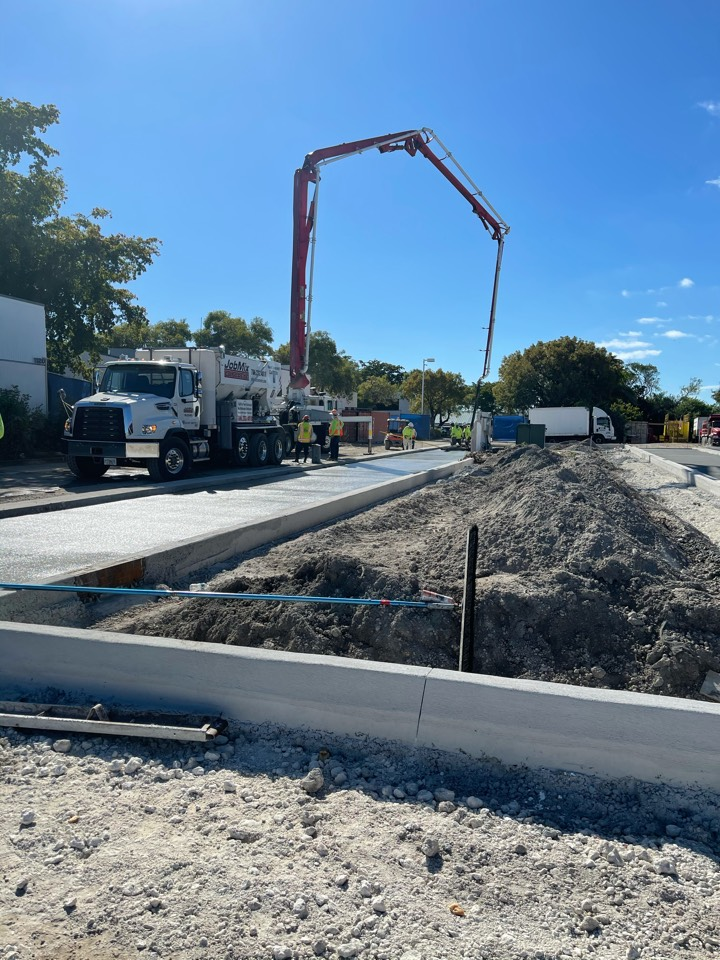 Hallandale Beach, FL - Working on 70+ yards at the Oasis jobsite in Hallandale Beach.