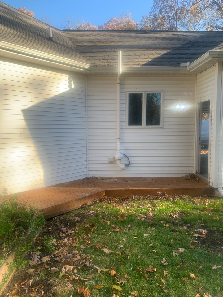 Ada, MI - This picture is of a radon mitigation system that we installed for the buyers of this house. We were able to install the system before the closing date in order to make sure the house was safe from radon gas before the move in date.