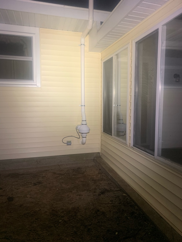 Zeeland, MI - This picture is of a radon mitigation system we installed this evening for a real estate deal.