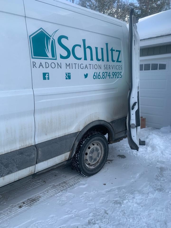 Newaygo, MI - We install radon mitigation systems year around!