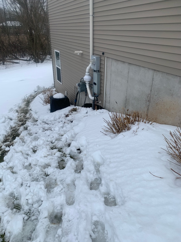 Grand Rapids, MI - Today we installed a radon mitigation system for a customer that did their own radon test and found they had high levels of radon gas inside their home.