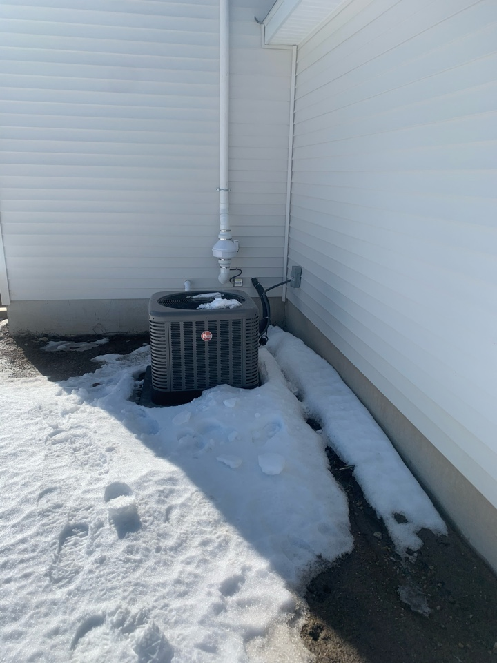 Caledonia, MI - Another radon mitigation system installed for Sable Homes.