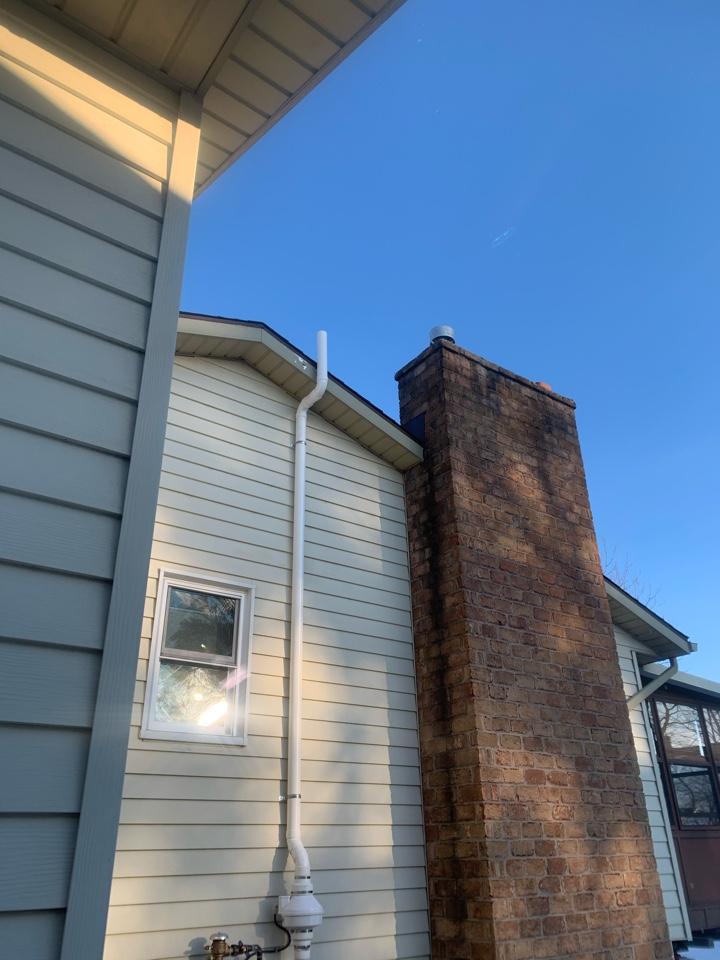 Grandville, MI - Another radon mitigation system installed here in Grandville.