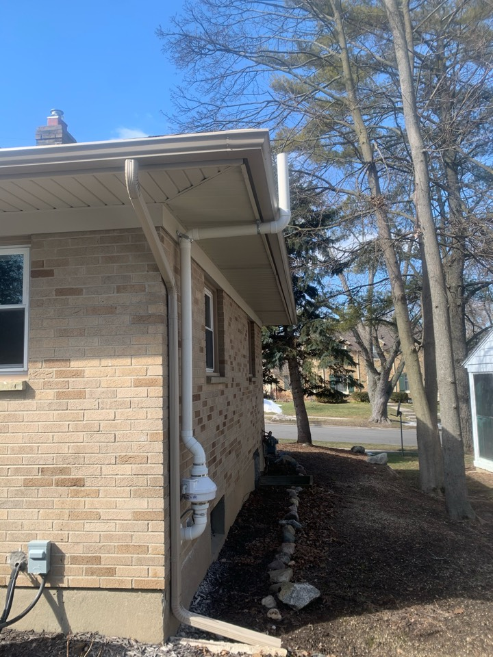 Grand Rapids, MI - This morning we installed a radon mitigation system on this brick house.