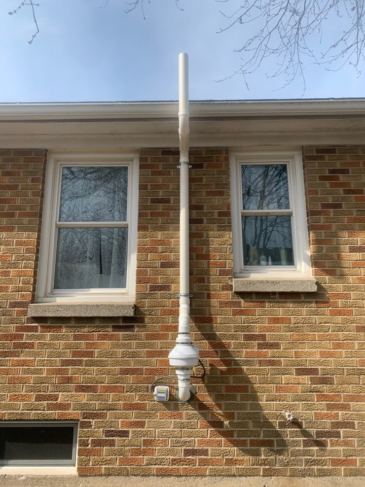 Holland, MI - They were looking for a radon mitigation company, they picked us to install the radon system and we are happy how it turned out.