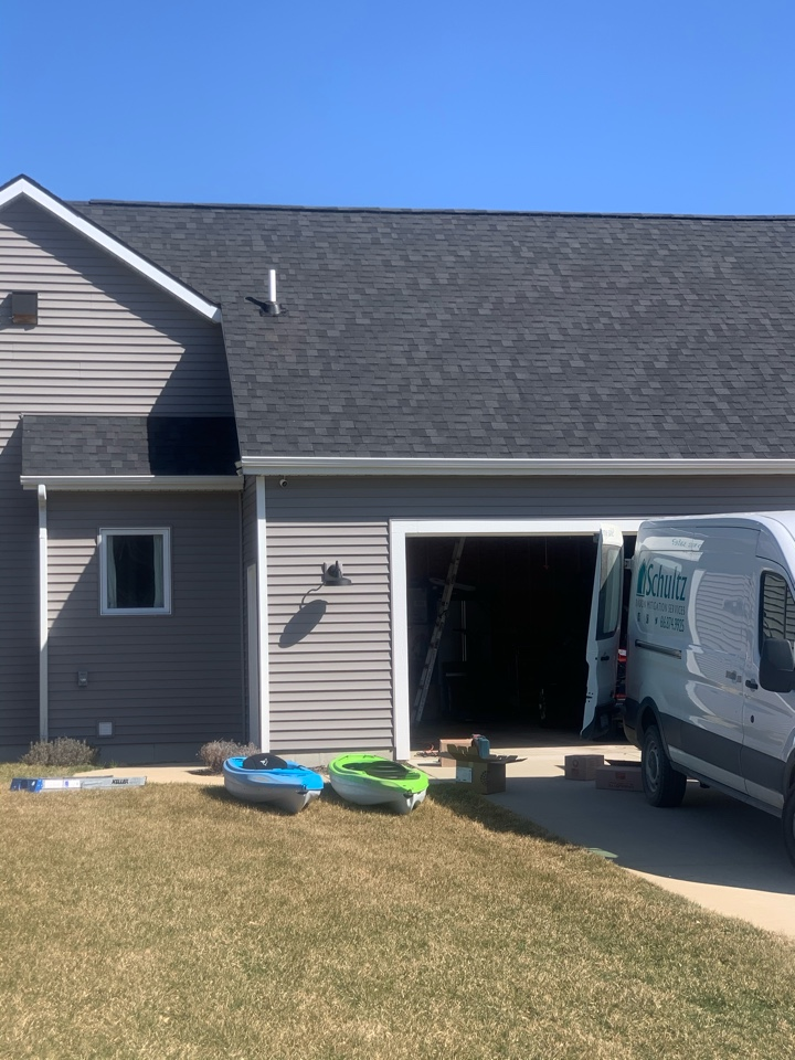 Lowell, MI - Another radon mitigation system installed on this new house here in Lowell Michigan.