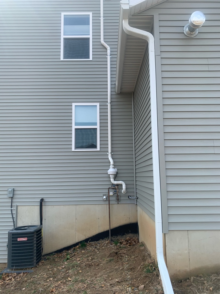 Lowell, MI - Today we installed a radon mitigation system on a new home here in West Michigan.