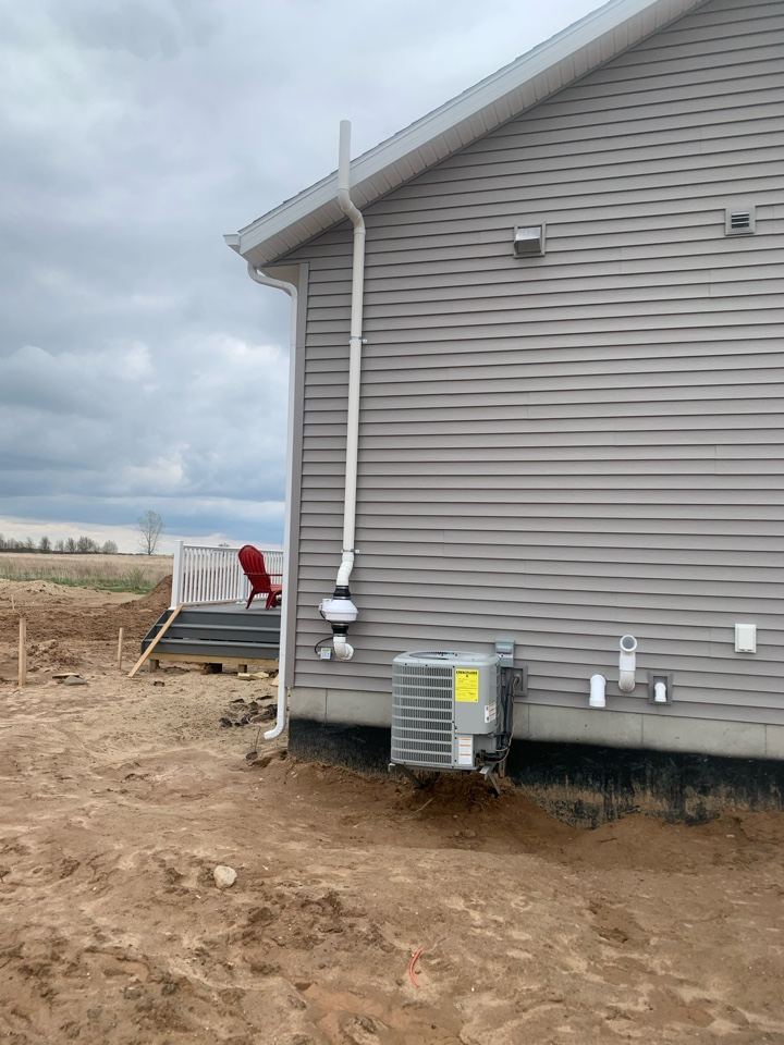 Ada, MI - Today we installed a radon mitigation system in a new development in Ada for North Cove Builders.