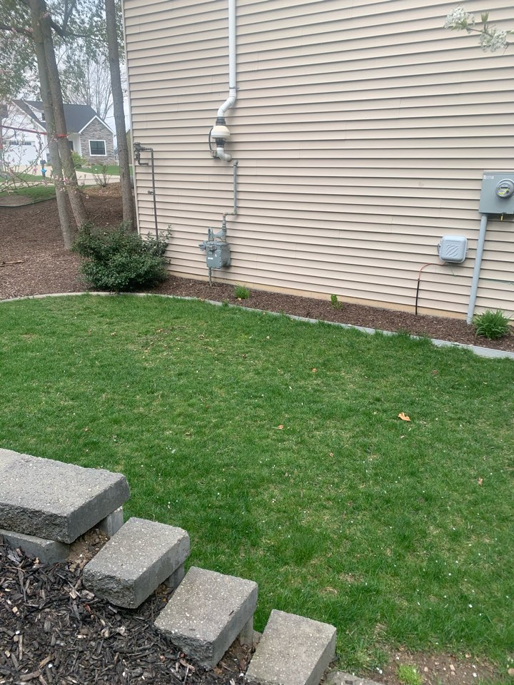 Hudsonville, MI - Here's another radon mitigation system installed this morning here in Hudsonville.