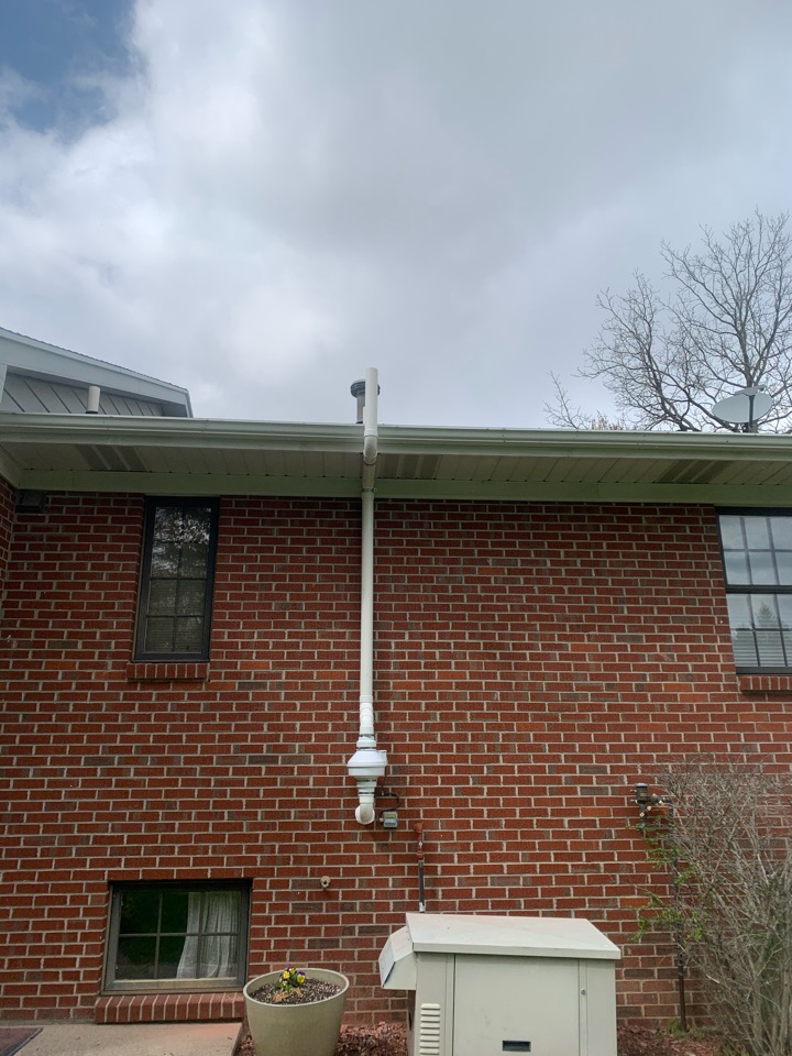 Caledonia, MI - Here's a radon system we installed today for a house in Caledonia, Michigan.