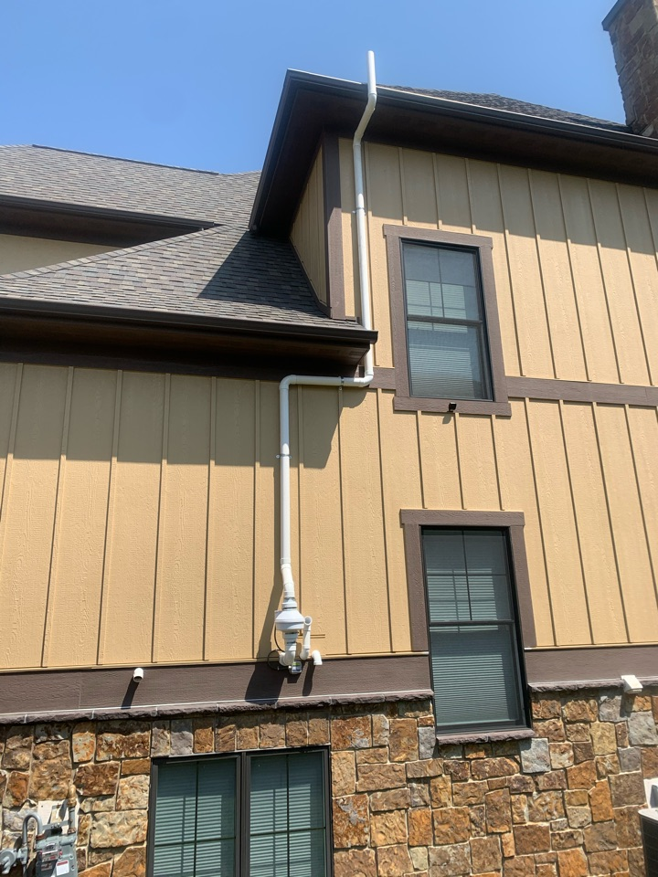 Grand Rapids, MI - This radon system was installed this morning on this house. This exterior radon mitigation system will need to be painted the same color as the house to help in blend in and not stand out. The system is doing its job though of reducing dangerous levels of radon gas and making the home a safe place to live.