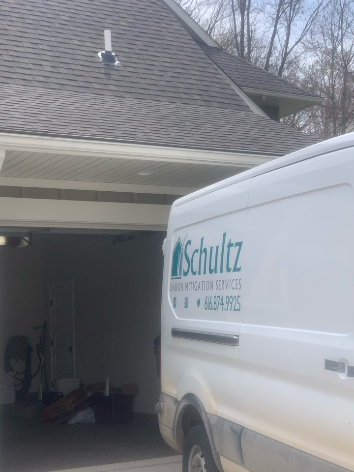 Rockford, MI - This is a attic style radon mitigation system we installed today in Rockford Michigan.
