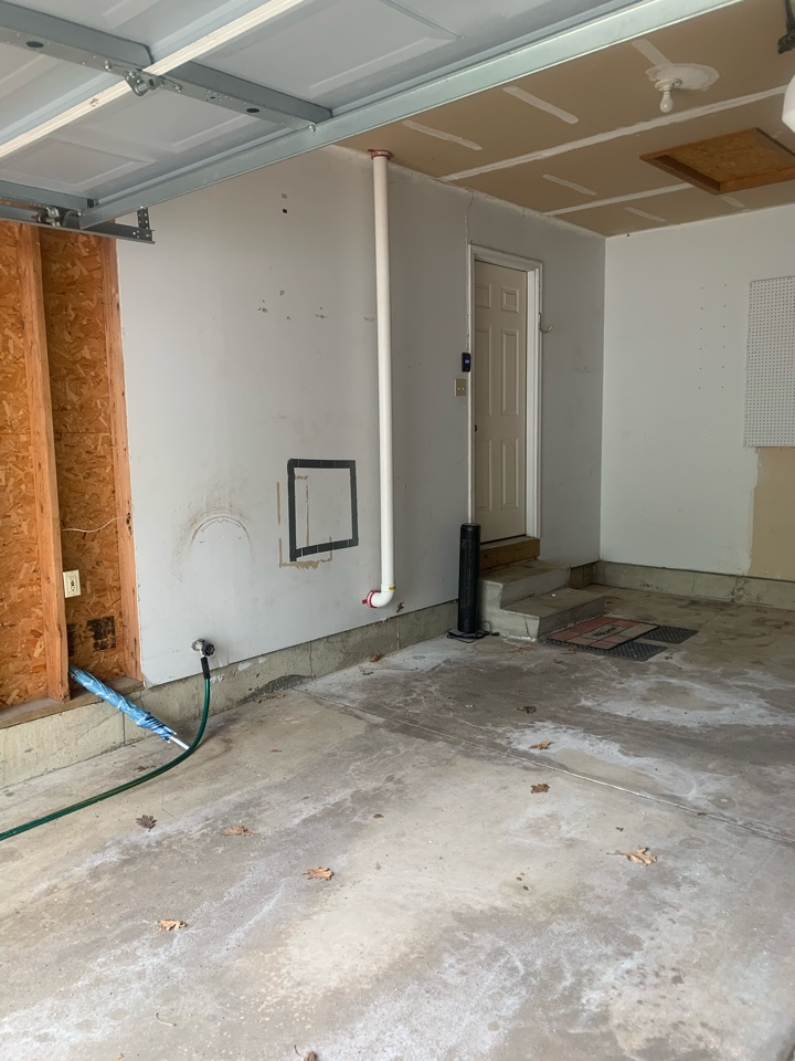 Caledonia, MI - This is a picture of another radon mitigation system we installed in an attic space. This house had drain tile under the basement slab around the inside perimeter of the home so we guaranteed to bring the radon levels down below            1 pCi/L.