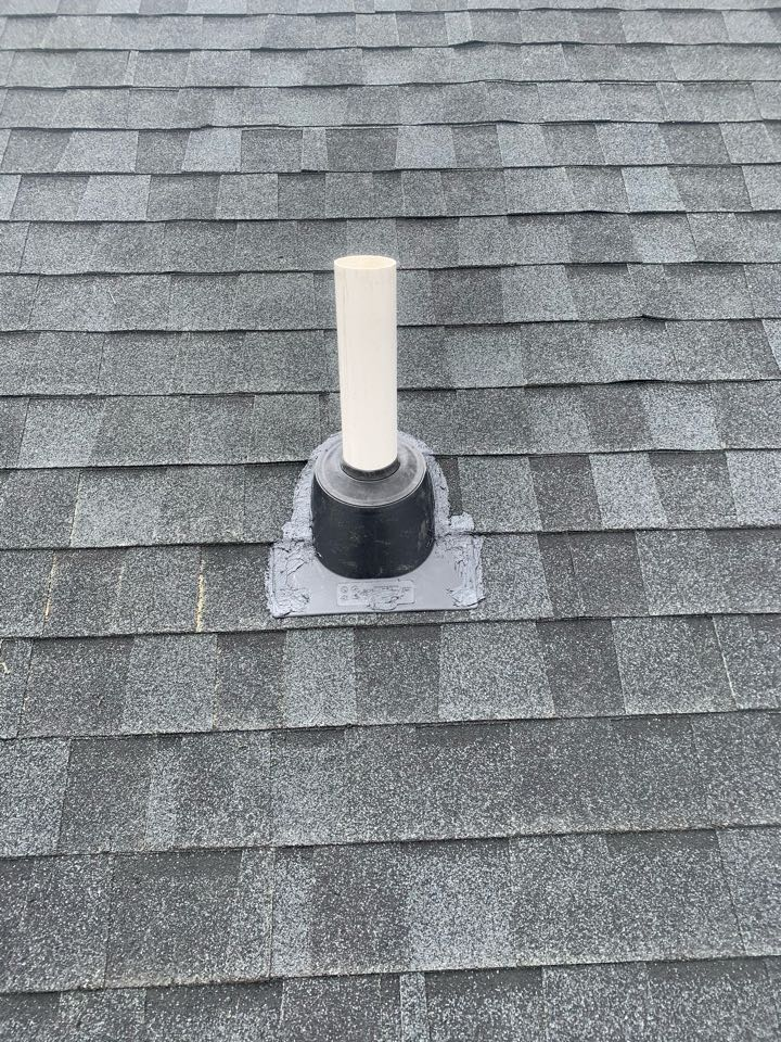 Lowell, MI - We installed a radon mitigation system in a condo unit this afternoon and ran the system into the attic and vented the radon pipe through the roof.