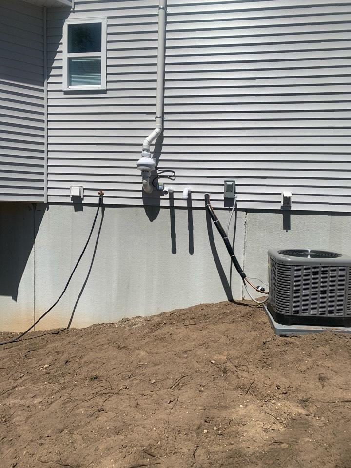 Sparta, MI - Another radon mitigation system installed for Sable Builders