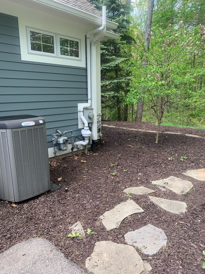 Ada, MI - This nice custom home tested high for radon gas so we installed this radon mitigation system to take care of the problem.