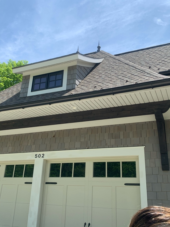 Grandville, MI - This customer has bees and wasps making nests all over this house and in the peaks of the roof. We treated the entire exterior of this house and we can guarantee they won't have anymore issues with pesky stinging insects.