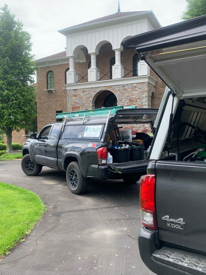Ada, MI - Spraying houses for bugs so our customers can have a pest free summer