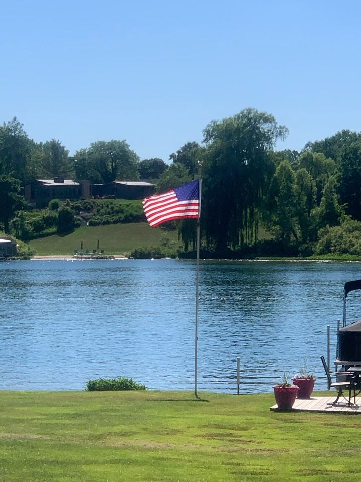 Lowell, MI - Providing effective and safe pest control services here on this lakefront home.