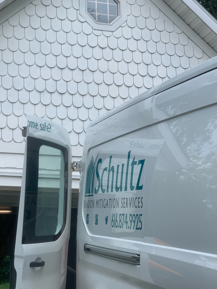 Plainfield charter Township, MI - Another attic style radon mitigation system installed.
