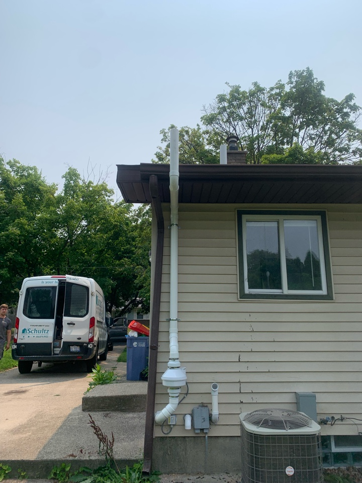 Grand Rapids, MI - This afternoon we installed another radon mitigation system. This radon system was mounted on the exterior.