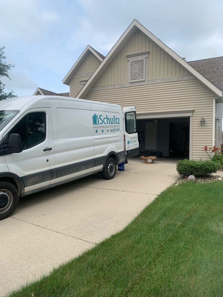 Georgetown Township, MI - Already completed a attic style radon mitigation system this morning. The new homebuyers requested to have a radon system installed after the home inspector conducted a radon test and discovered that the house contained high levels of radon gas.