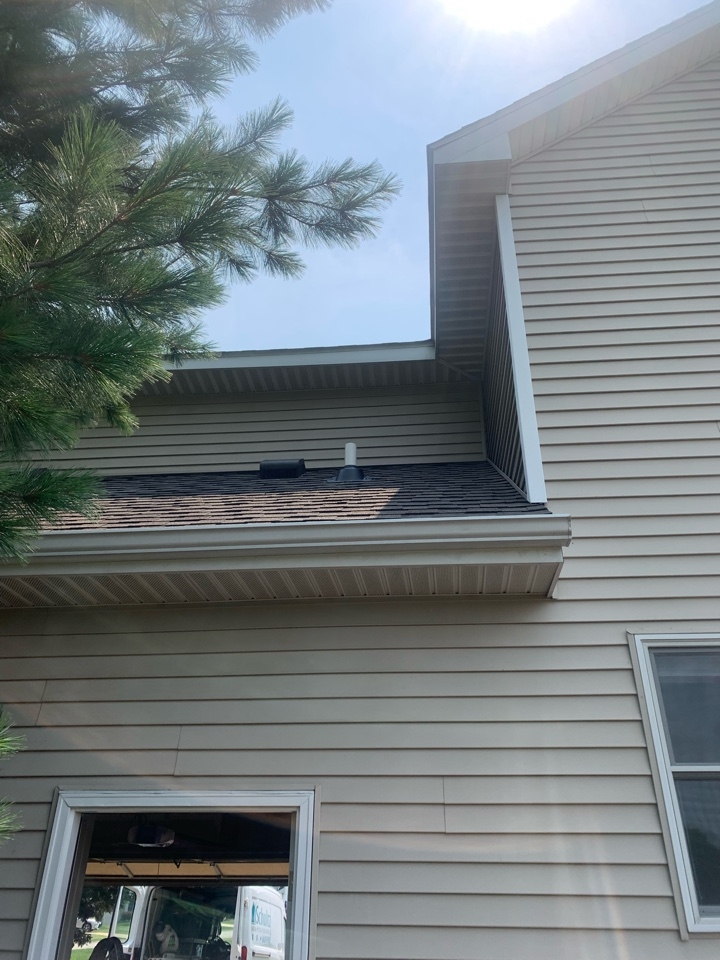 Holland, MI - Just installed another radon mitigation system through the attic on this house. The new homeowners that just moved here from Virginia are very pleased with the radon system and the placement of where it was installed.