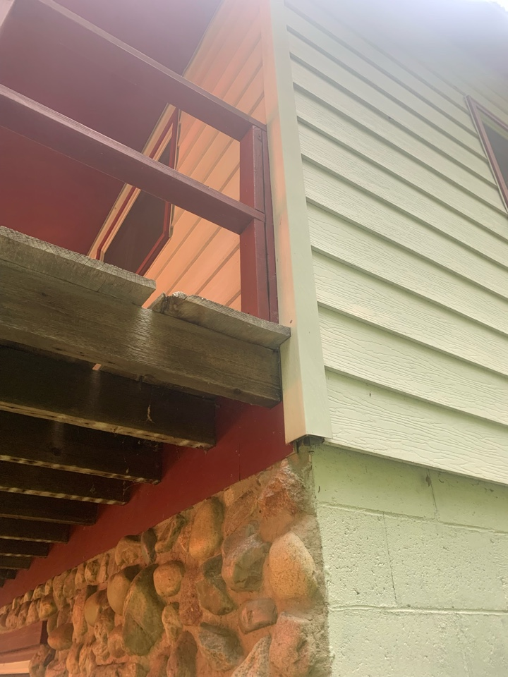 Ada, MI - Yellow jackets found their way into this house and built a big nest inside the wall. Schultz Pest Control took care of the problem and guarantees the work and that the pest will be gone for good!