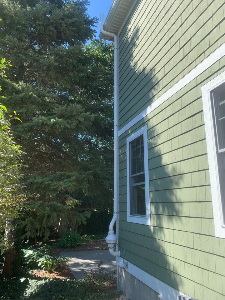 Grand Rapids, MI - Just installed a radon mitigation system on the outside of this home here in East Grand Rapids.