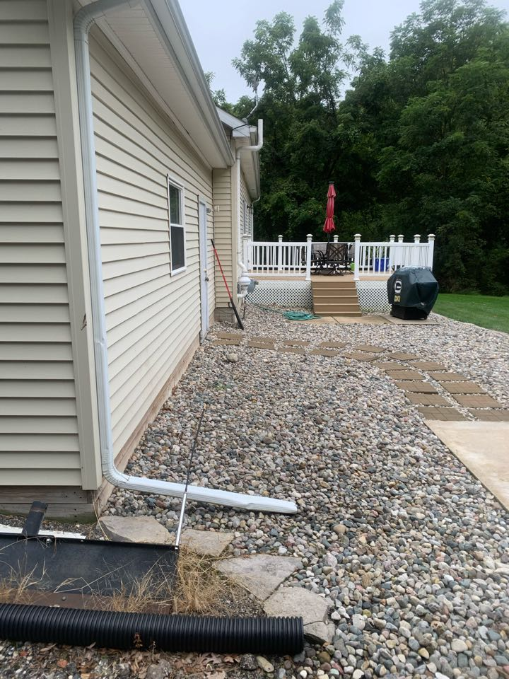 Ionia, MI - Just finished installing another exterior radon mitigation system.