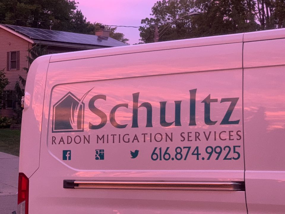 Grand Rapids, MI - Schultz Pest Control and Radon Services hard at work today taking care of pest control problems and reducing dangerous levels of radon gas.