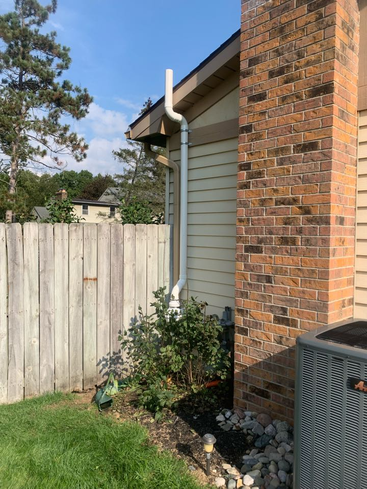 Grand Rapids, MI - Here's a picture of a radon mitigation system we just installed for this house. This system went well and the location on the exterior of the house is good.