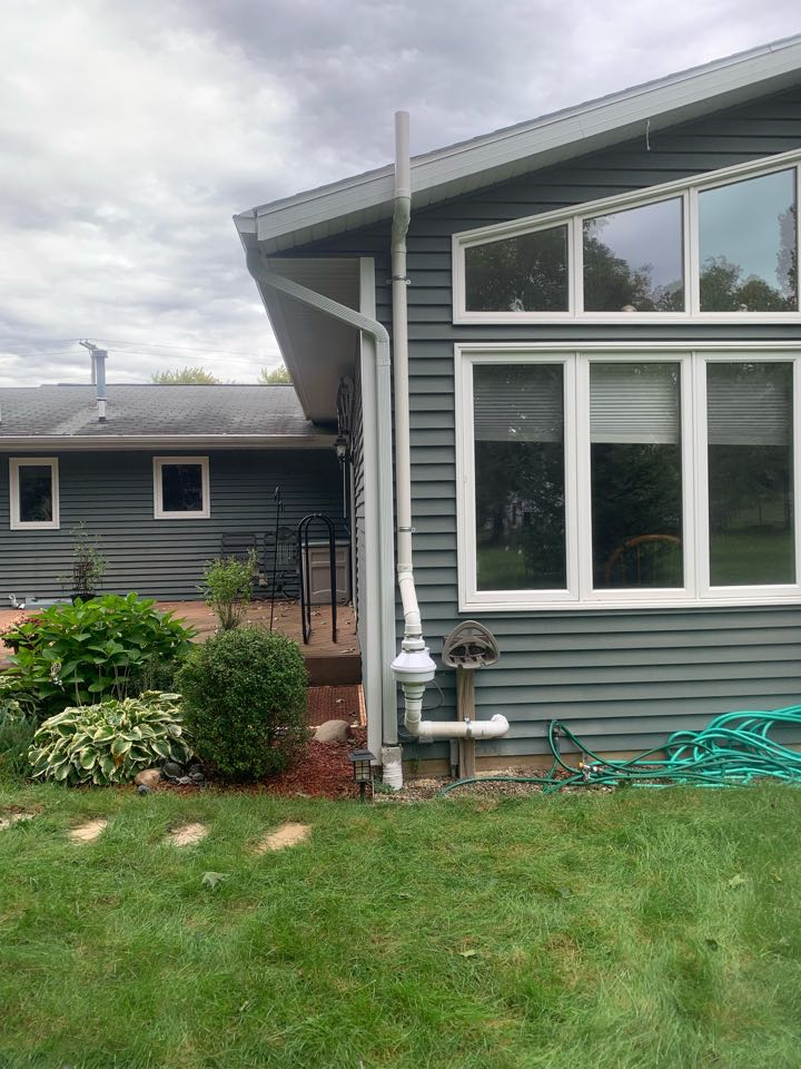 Rockford, MI - Here's a radon mitigation system we installed today for a house that had really high levels of radon gas.